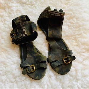 Sandro Paris camo Sandals